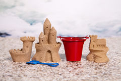 Sand Castles Stock Image