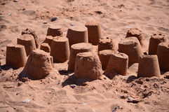Sand Castles Royalty Free Stock Image