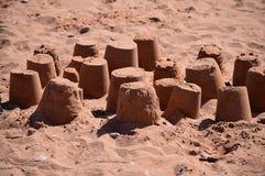 Sand Castles. At Goodrington, Torbay, Devon England Royalty Free Stock Image