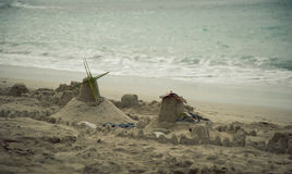 Sand Castles of the past.. Royalty Free Stock Image