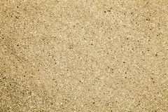 Sand for cat litter. Gravel for cat litter. Fine sand yellow brown Stock Photos