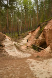 Sand cave. A cave from sands surrounded by a forest Stock Photo