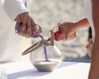 Sand ceremony being performed Stock Images