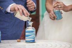 Sand ceremony at wedding Royalty Free Stock Photos