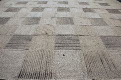 Sand checkerboard. Raked sand in checkerboard pattern Stock Photos