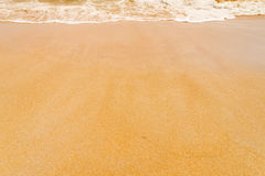 Sand clean beach background Royalty Free Stock Photography