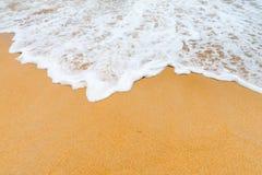 Sand clean beach background Stock Photos