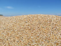 Sand. Clean sea sand, clean blue sky summer day stay Stock Photos