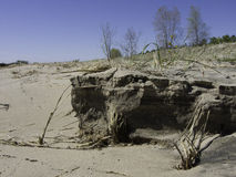 Sand Cliff Wash Out Stock Photo