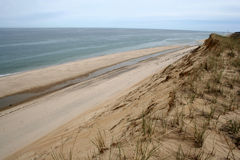 Sand Cliffs. Sand cliff on Cape Cod Stock Photos