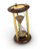 Sand clock. On white background Stock Images