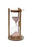 Sand clock. Isolated on white background stock photos