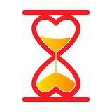 Sand clock. Red abstract heart sand clock Stock Photography