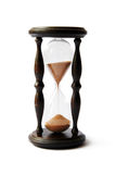 Sand clock. Old antigue wooden sand clock royalty free stock photo