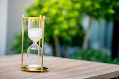 Sand clock, business time management concept. With natural light stock images