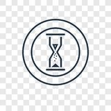 Sand Clock concept vector linear icon isolated on transparent ba. Ckground, Sand Clock concept transparency concept in outline style stock illustration