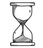 Sand clock doodle. Sand clock in doodle sketch style royalty free illustration