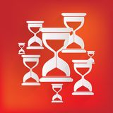Sand clock icon. Glass timer symbol Stock Images