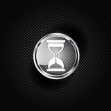Sand clock icon. Glass timer symbol Royalty Free Stock Image
