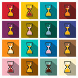 Sand Clock Icons Set. Royalty Free Stock Images