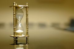 Sand Clock In The Empty Board Room Royalty Free Stock Images