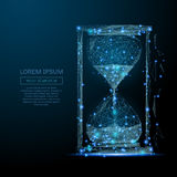 Sand clock low poly blue Royalty Free Stock Images