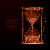 Sand clock low poly flame Stock Images