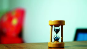 Sand Clock, real time. Little sand clock closeup, real time stock video footage
