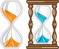Sand Clock vector Royalty Free Stock Images