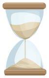 Sand Clock. Vector illustration  on white Stock Photo