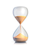 Sand Clock. On white background Royalty Free Stock Photography