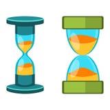 Sand clocks vector  Stock Photo