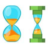 Sand clocks vector  Royalty Free Stock Photo