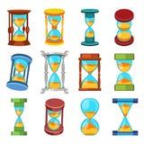 Sand clocks vector set Royalty Free Stock Photos