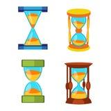 Sand clocks vector set Royalty Free Stock Photography