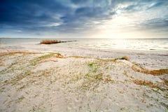 Sand coast by Ijsselmeer, Hindeloopen. The Netherlands Royalty Free Stock Photography