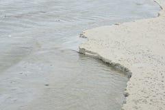 Sand coastal of sea erosion Royalty Free Stock Photos