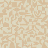 Sand-colored pattern of geometric shapes Royalty Free Stock Image