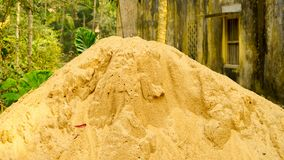 Sand for construction,house royalty free stock photography