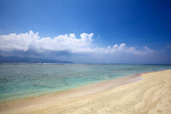 Sand and coral beach Royalty Free Stock Image
