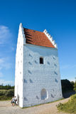 Sand-covered church tower, Skagen, Denmark Royalty Free Stock Photos