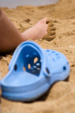 Sand covered foot Royalty Free Stock Image
