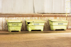 Sand crates stock images