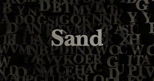 Sand - 3D rendered metallic typeset headline illustration Stock Photo