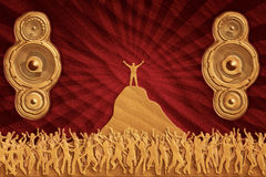 Sand dance speakers Royalty Free Stock Images