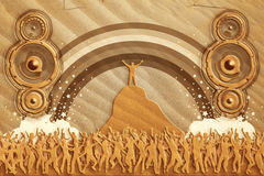 Sand dance speakers Royalty Free Stock Photos