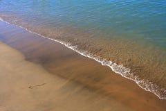Sand des Strandes - karibisches Meer lizenzfreies stockbild