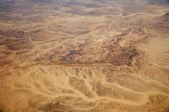 Sand desert. Aerial view of sand desert Royalty Free Stock Photo
