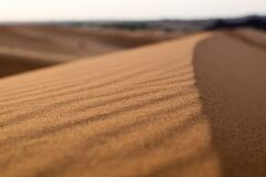 Sand in desert Royalty Free Stock Images