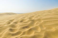 Sand in desert with blue sky Royalty Free Stock Images